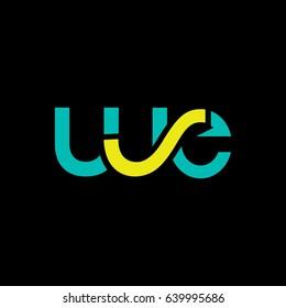 W E  joint letter logo design vector