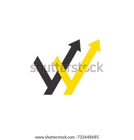 W Up Letters | W Letter Arrow Logo Stock Vektorgrafik Lizenzfrei 732648685