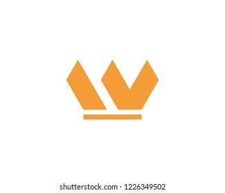W letter Crown Logo Template vector illustration