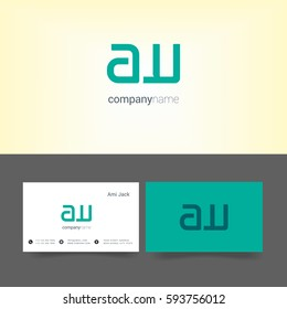 A & W Letter logo, with Business card Template