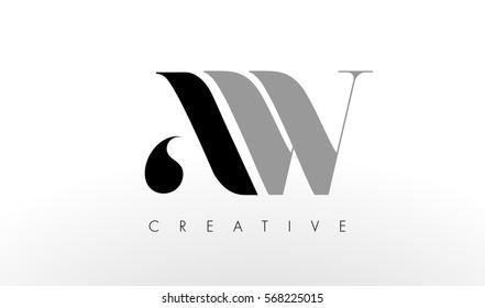 Un Logo À Lettres W. Illustration D'Icône De Lettres AW Créatives Modernes.