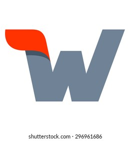 W letter logo design template. Fast speed vector unusual letter. Vector design template elements for your application or company.