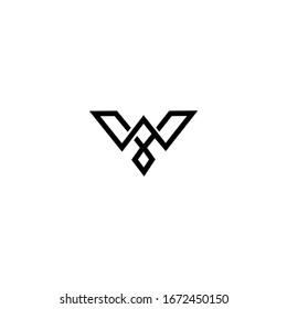 W Letter Logo Design Vector Template