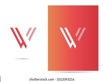 W letter logo stroke design vector template