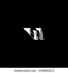 W letter logo vector design on black color background. w alphabet