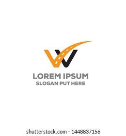 W Letter logo/identity design for use transport business