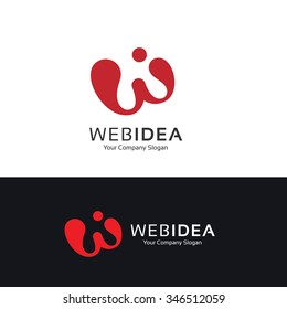 W letter logo,Web idea Logo template,Vector logo template