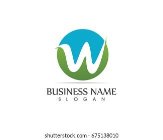 W Letter Nature Logo