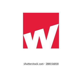 W letter vector logo design