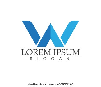 W letters business logo and symbols template