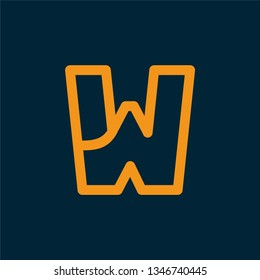 W logo, design inspiration vector template for any purpose