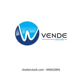 W logo letter