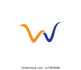 W logo and vector illustration