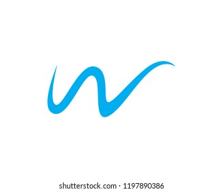 W logo vector template