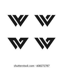 W symbol W letter character typeface W sign icon