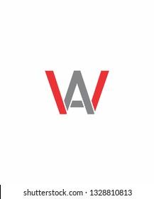 WA Or AW Letter Logo Icon 001