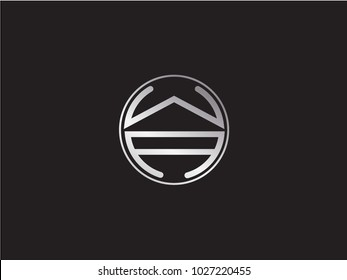 WA circle Shape Letter Design