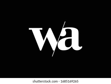 WA Initial Letter Logo design, Graphic Alphabet Symbol for Corporate Business Identity