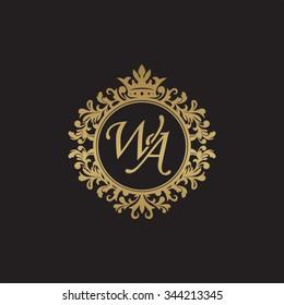 WA initial luxury ornament monogram logo