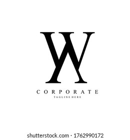 wa letter logo corporate. wa letter vector logo