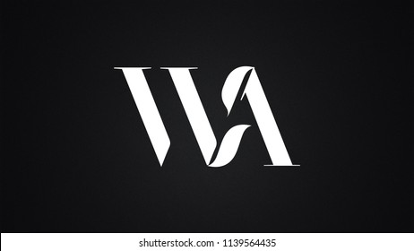 WA Letter Logo Design Template Vector
