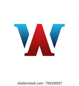 WA Letter Logo Template