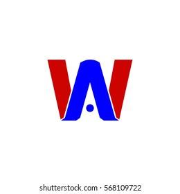 wa letter vector logo