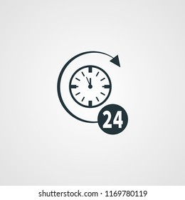wach 24 hour vector icon