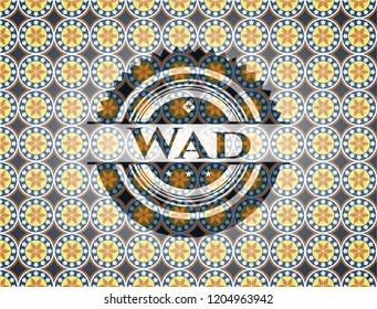 Wad arabesque badge. arabic decoration.