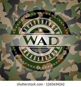 Wad camouflaged emblem