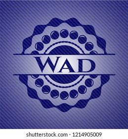 Wad with denim texture