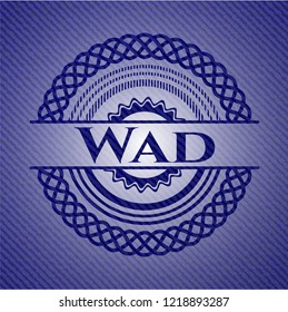 Wad with jean texture