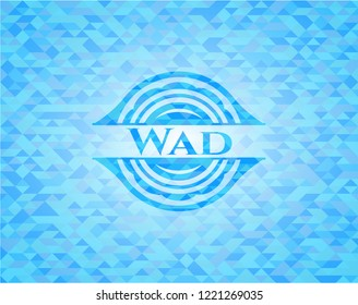 Wad light blue mosaic emblem