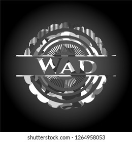 Wad on grey camouflage pattern