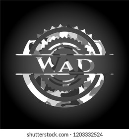 Wad on grey camouflaged texture