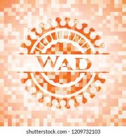 Wad orange mosaic emblem