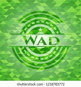 Wad realistic green mosaic emblem