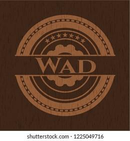 Wad retro style wooden emblem