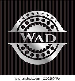 Wad silver shiny emblem