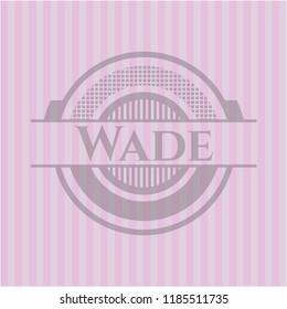 Wade pink emblem. Retro