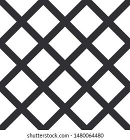 Wafer seamless background. Waffles pattern. Vector waffle Background. Lattice pattern. Black grid. Mosaic grid. Square background. Vector illustration. Checkered pattern. Geometric backdrop.