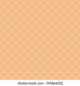 Wafer seamless pattern background. Ice cream cone surface.