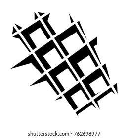 Waffle Icon isolated on white. Vector illustration