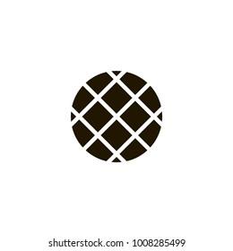 waffle icon. sign design