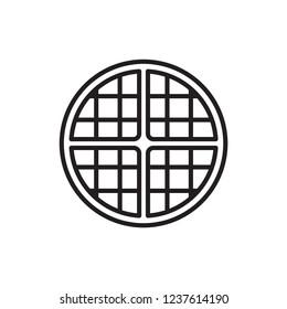 waffle icon vector