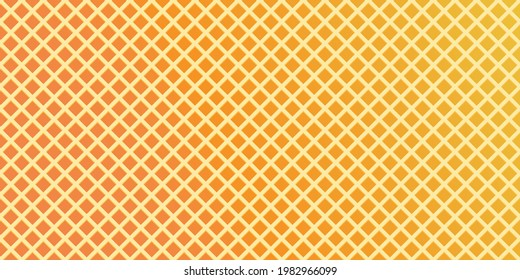 Waffle, wafer texture vector seamless pattern background