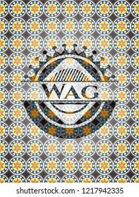 Wag arabesque emblem. arabic decoration.