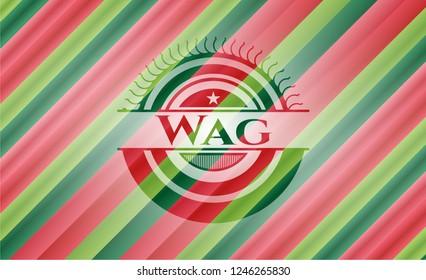 Wag christmas colors emblem.