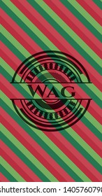 Wag christmas colors style badge. Vector Illustration. Detailed.