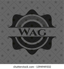 Wag dark emblem. Vector Illustration. Detailed.